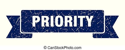 priority grunge ribbon. priority sign. priority banner