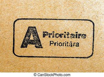 Priority mail postmark