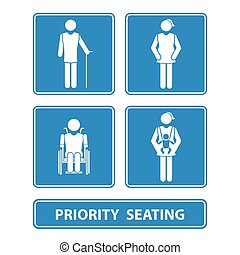priority seating sign vector illustration