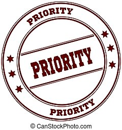 PRIORITY simple red stamp