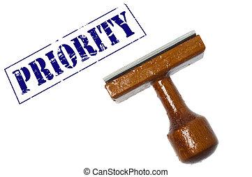 Priority stamp