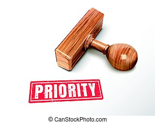 priority text and stamp