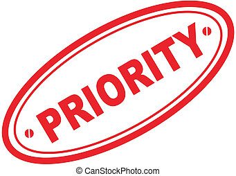 priority word stamp in vector format