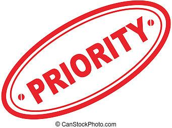 priority word stamp in vector format