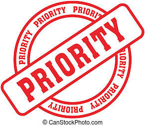 priority word stamp - priority in vector fromat