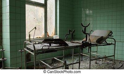 pripyat., zone, 2020, nucléaire, abandonnés, hôpital, ...