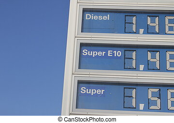 pris, bensin
