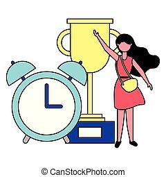 pris, womanaffär, klocka