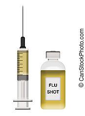 prise vue grippe, illustration