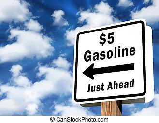 priser, $5, gas