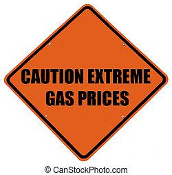 priser, varning, gas, ytterlighet