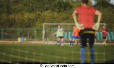 prises, balle, but, sauve, brouillé, goal
