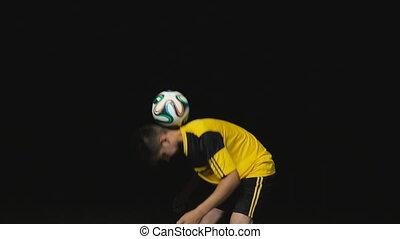 prises, balle, footballeur
