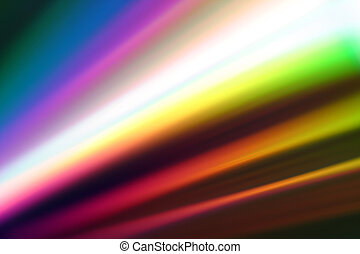 Prism - Light reflected in the surface of a CD.