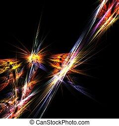 Prism lights - Fractal abstract of colorful prism lights