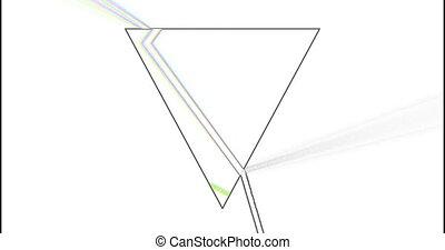 Prism refracting light 3d footage