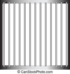 Prison bar - Steel bars of prison bars. Vector illustration.