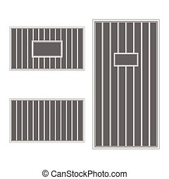 prison bar jail illustration on white background