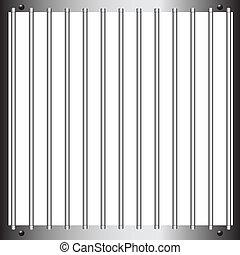 Steel bars of prison bars. Vector illustration.