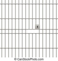 detailed illustration of a prison bar background, eps10 vector