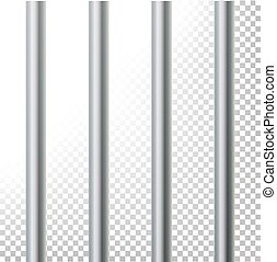 Prison Bars Isolated Vector Illustration. Transparent...