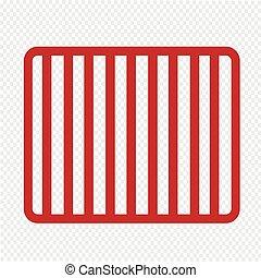 Prison bars jail icon Illustration Art