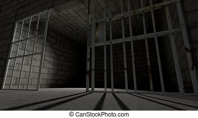 Prison cell bars cell closing