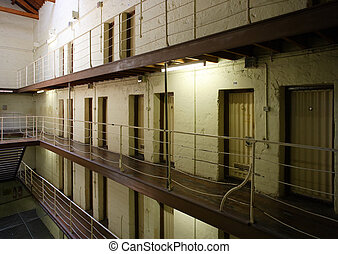 Prison cell block - View of prison cell blocks.