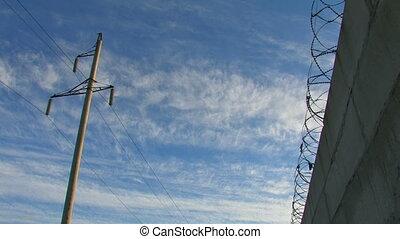 Prison Concrete Fence