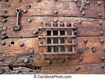 Prison door detail - Part of the old prison door of the St...