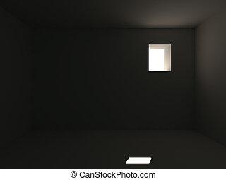 prison black room