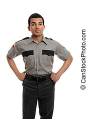 Prison guard or policeman - Prison guard, warden, or cop...