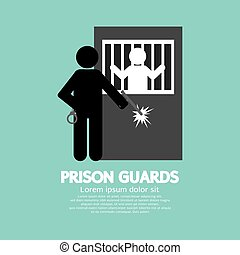 Prison Guards Symbol Vector Illustration