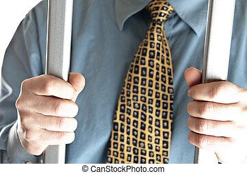 prison, homme affaires