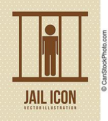 prison, icône