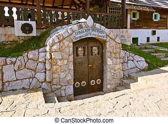 Prison in village Drvengrad Mecavnik - Serbia - architecture...