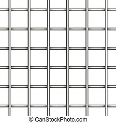 prison jail iron mesh seamless realistic vector background...