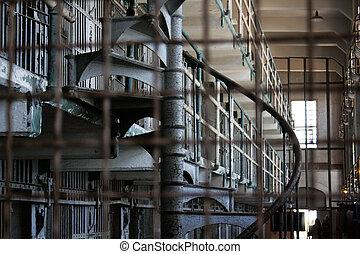 Prison of Alcatraz, in the San Francisco coast, California