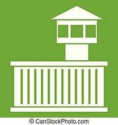 Prison tower icon green