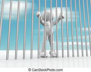 Prisoner - 3D men character prisoner in jail - This is a 3d...