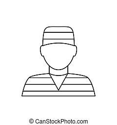 Prisoner avatar thin line icon