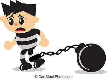 prisoner - illustration of prisoner