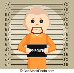 prisoner mugshot background illustration design