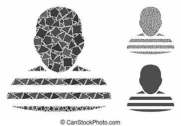 Prisoner person Mosaic Icon of Tremulant Elements