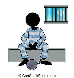 prisoner - Silhouette-man in prison