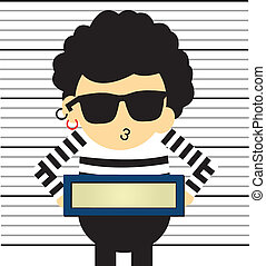Prisoner vector cartoon style for use