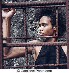 """prisoners"""", tudo, atleta, após, político, braços, angela, atrás de, (afro, ferro, """"free, americano, menina, forte, malhação, bars)"""