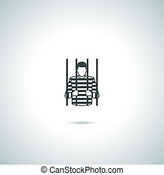 prisonnier, criminel, icône