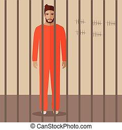 prisonnier, dessin animé