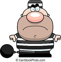 prisonnier, fâché, dessin animé